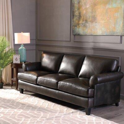 Red Barrel Studio Grain Leather Sofa Top Sofas
