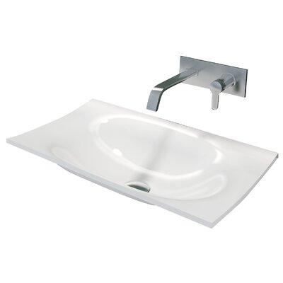 Dcor Design True Solid Surface Rectangular Drop In Bathroom Sink