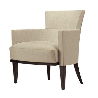 David Edward Armchair Walnut Upholstery Summer White