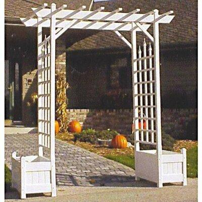 Dura Trel Vinyl Arbor Planter Arches