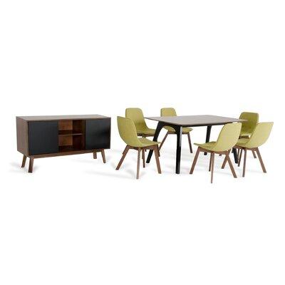 Corrigan Studio Dining Set Upholstery Green Tea