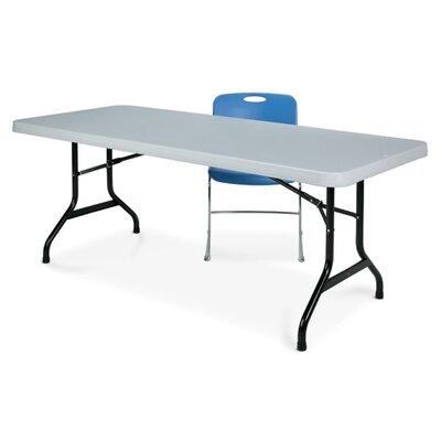 Ki Valuelite Blow Molded Folding Table Stone Grey Top Photo