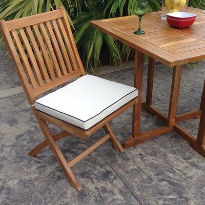 Chic Folding Teak Patio Dining Chairs Cushion