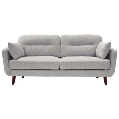 Elle Decor Mid Century Modern Sofa Upholstery Light Gray
