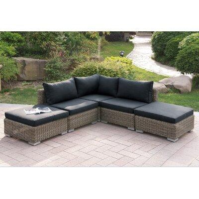 A J Homes Studio Patio Sectional Set I Cushions