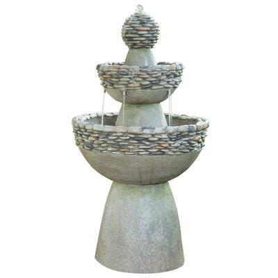 Peaktop Outdoor Garden Zen Level Fountain Stone Fountains