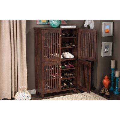 Darby Home Shoe Storage Cabinet Oak Storage Chests