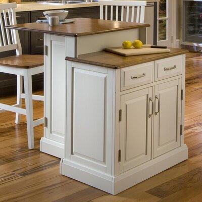 Darby Home Island Set Wood Kitchen Kitchen Islands