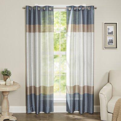 Alcott Hill Homewood Striped Semi-Sheer Grommet Curtain Panels | 50 Nautical Inspired Ideas For Home Decor | Inexpensive Nautical Decor | DIY Home Decor | theMRSingLink