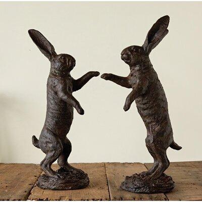 Alcott Hill Rabbit Decoration Statue Set Standing Furniture