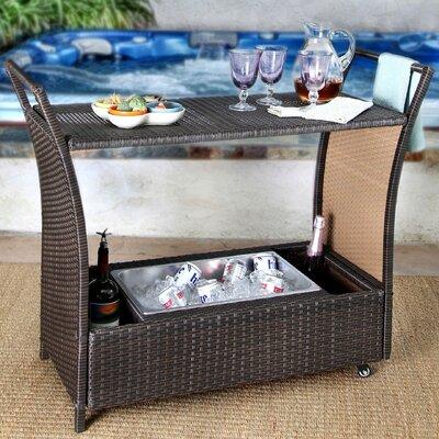Brayden Studio Bar Serving Cart Cancun Bar Sets