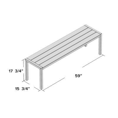 Brayden Studio Picnic Bench Aluminum Benches