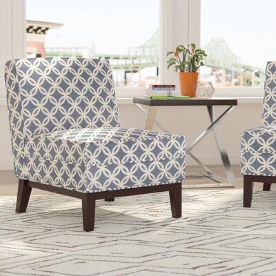 Brayden Studio Slipper Chair Blue Chairs