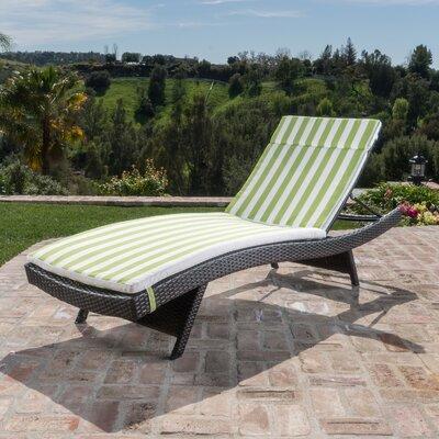 Zipcode Design Chaise Lounge Cushion Wicker Loungers
