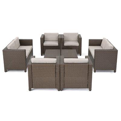 Brayden Studio Wicker Deep Seating Group Cushions Conversation Sets