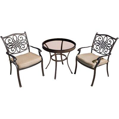 Three Posts Bistro Set Cushions Aluminum Dining Sets