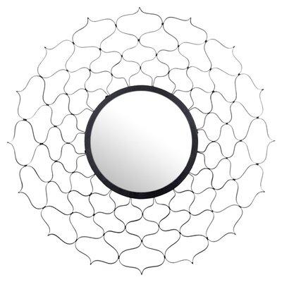 Wrought Studio Black Wall Mirror Round Mirrors