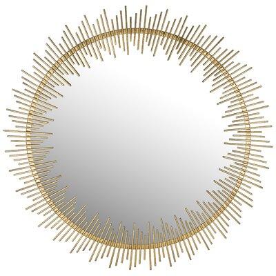 Mercer41 Sunray Circle Wall Mirror Round Mirrors