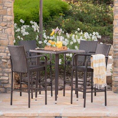 Brayden Studio Wicker Pub Table Set Outdoor Dining Sets