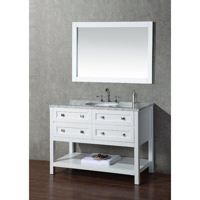 Brayden Studio Sink Bathroom Vanity Set Mirror Single Vanities