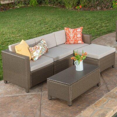 Wade Logan Seating Group Cushion Sectional Conversation Sets