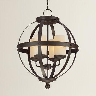Doris 4-Light Autumn Bronze Globe Pendant
