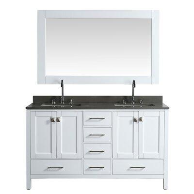Dcor Design Hyde Double Bathroom Vanity Set Mirror
