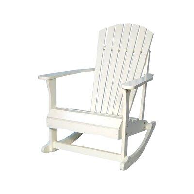Highland Dunes Wood Rocking Adirondack Chair Porch Adirondack Chairs