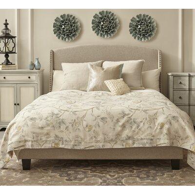 Lark Manor Back Queen Upholstered Panel Bed Shelter Beds