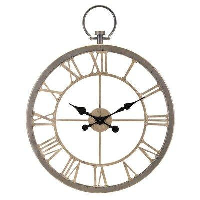 Lark Manor Biege Wall Clock Ponticus Wall Clocks