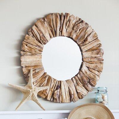 Beachcrest Home Wood Mirror Drift Mirrors