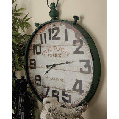 Beachcrest Home Metal Wall Clock Round Wall Clocks
