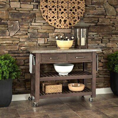 Trent Austin Design Cart Concrete Top Kitchen Kitchen Islands