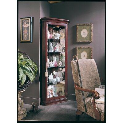 Loon Peak Lighted Corner Curio Cabinet Palisade Display Cabinets
