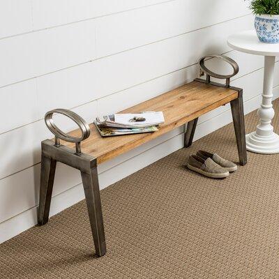 Trent Austin Design Metal Bench Wood Benches