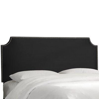 Willa Arlo Interiors Notched Nail Button Upholstered Panel Headboard Velvet Headboards