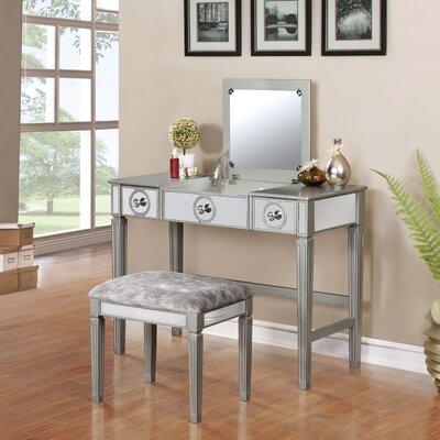 House Of Hampton Vanity Set Mirror Mowbray Dressing Tables
