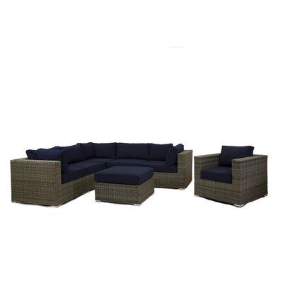Breakwater Bay Sectional Set Cushions Navy