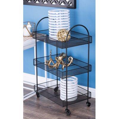Cole Grey Basket Bar Cart