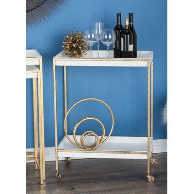 Cole Grey Wood Tea Bar Cart