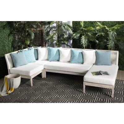 Bungalow Rose Patio Sectional Cushions Teak Sofas