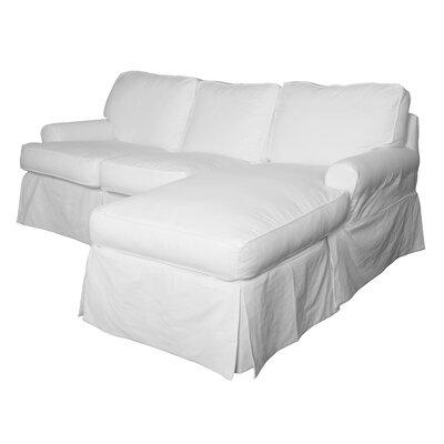 Beachcrest Home Gables Reversible Sleeper Sectional Upholstery Warm White