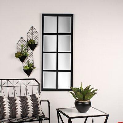 Kate Laurel Framed Wall Mirror Windowpane Mirrors