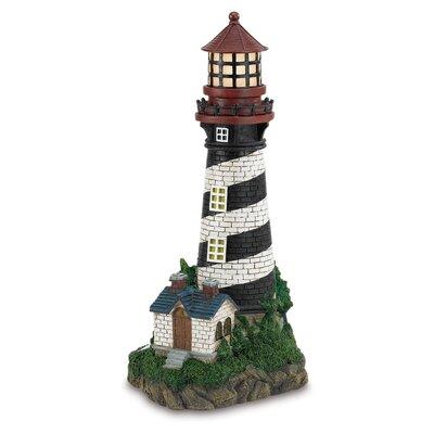 Groton Solar Powered Garden Lighthouse Statue