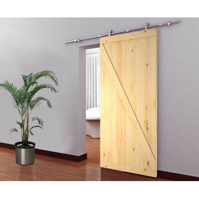 Calhome Paneled Wood Barn Door Hardware Kit