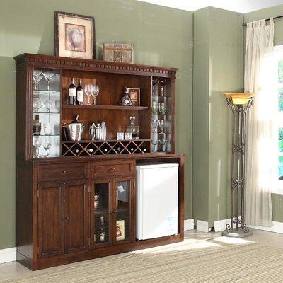 Fleur De Lis Living Back Bar Wine Storage Walnut
