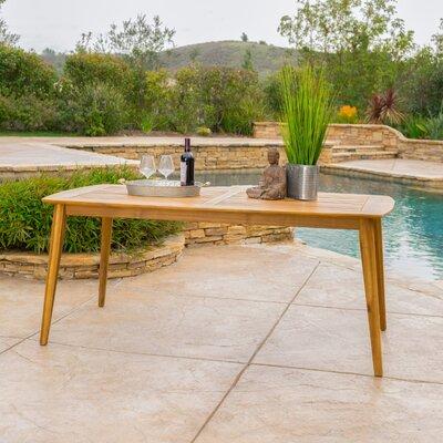 Beachcrest Home Dining Table Teak Tables