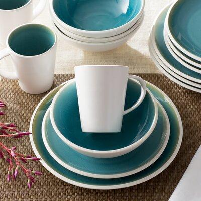 Newthorpe 16 Piece Dinnerware Set | 50 Nautical Inspired Ideas For Home Decor | Inexpensive Nautical Decor | DIY Home Decor | theMRSingLink