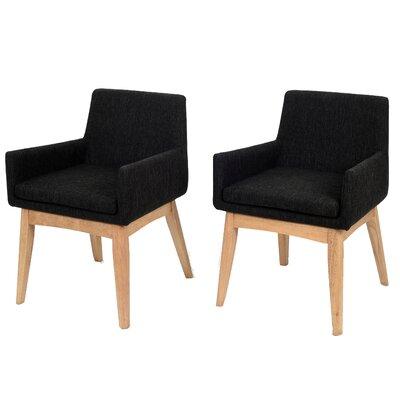 Corrigan Studio Dining Set Upholstery Liquorice Natural