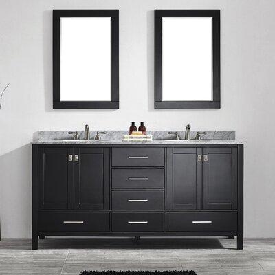 Beachcrest Home Double Bathroom Vanity Set Mirror